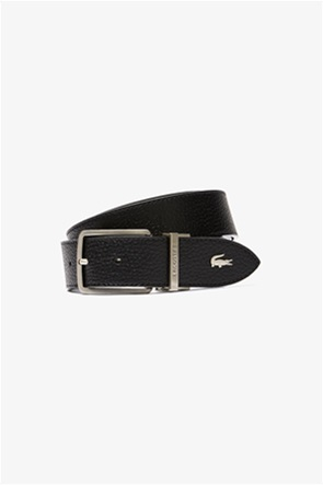 """Lacoste ανδρική δερμάτινη ζώνη """"Engraved Buckle Grained"""""""