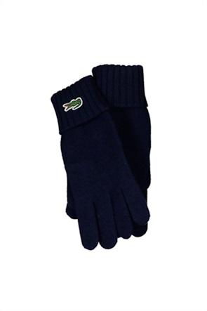 Lacoste ανδρικά πλεκτά γάντια με λογότυπο