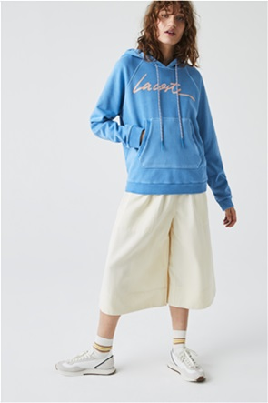 Lacoste γυναικεία μπλούζα φούτερ με letter logo print