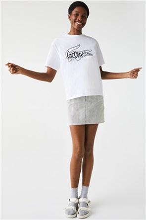 Lacoste  γυναικείο T-shirt με oversized logo print