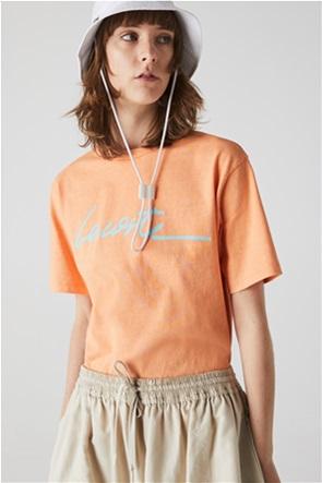 Lacoste γυναικείο T-shirt με logo letter print