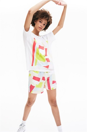 Lacoste γυναικείο T-shirt με γεωμετρικό print