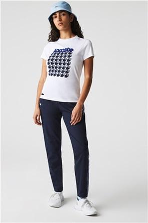Lacoste γυναικείο T-shirt με pied-de-coq pirnt