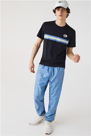 Lacoste ανδρικό T-shirt με ριγέ λεπτομέρεια