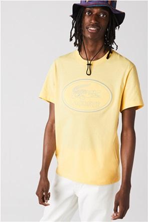 Lacoste ανδρικό T-shirt με μεγάλο κεντημένο λογότυπο