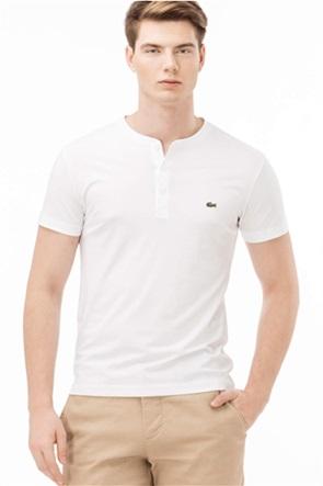 Lacoste ανδρικό Henley T-shirt μονόχρωμο