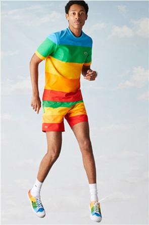 Lacoste ανδρικό T-shirt ριγέ ''Lacoste x Polaroid''