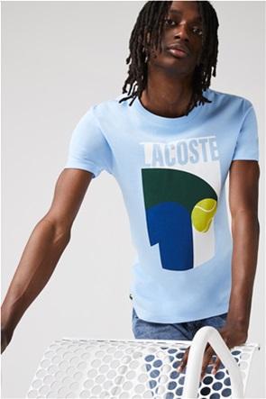 Lacoste ανδρικό T-shirt με vintage tennis print