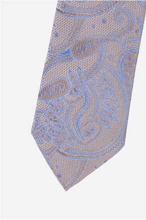 The Bostonians ανδρική γραβάτα με print λαχούρια
