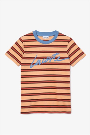 Lacoste παιδική μπλούζα ριγέ με letter print (2-16 ετών)