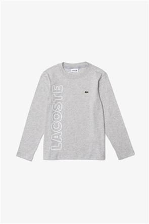 Lacoste παιδική μπλούζα με κεντημένο λογότυπο και lettering