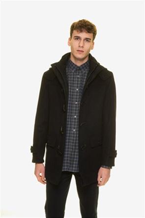 The Bostonians  ανδρικό παλτό montgomery με κουκούλα