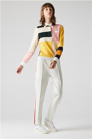 Lacoste γυναικείο παντελόνι φόρμας με ριγέ λεπτομέρεια