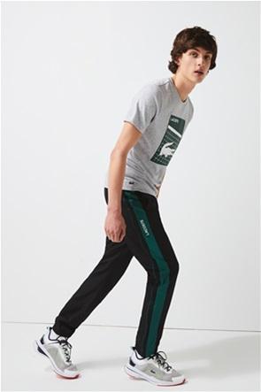 Lacoste ανδρικό παντελόνι φόρμας με 3D logo lettering