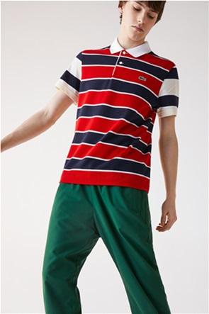 Lacoste ανδρική πόλο μπλούζα ριγέ