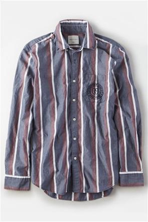 AE Poplin Striped Button Up Shirt