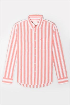 AE Striped Poplin Button-Up Shirt