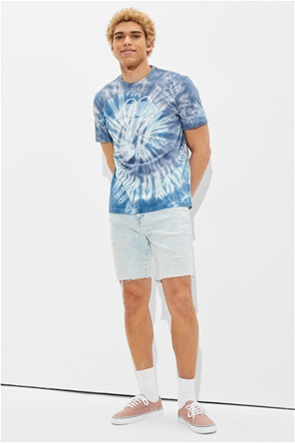 Tailgate for Surfrider Men's Tie-Dye Rolling Stones Graphic T-Shirt