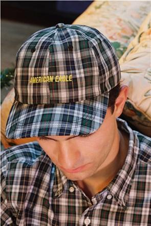 AEO Plaid Baseball Hat