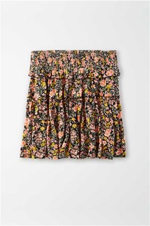 AE High-Waisted Ruffled Tiered Mini Skirt