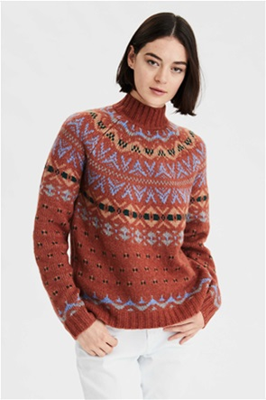 AE Fairisle Mock Neck Sweater