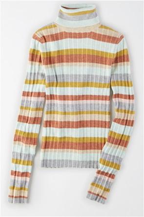AE Striped Bodycon Turtleneck Sweater