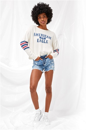 AE Cropped Crew Neck Sweater