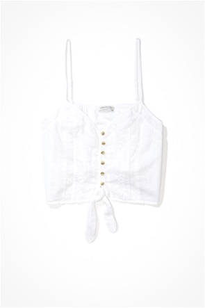AE Button-Up Tie-Front Cami