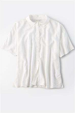 AE Silky Short Sleeve Button Up Shirt