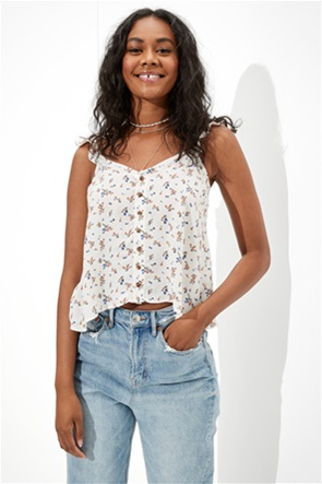 AE Flutter-Strap Button-Up Cami