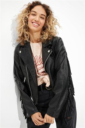 AE Fringe Leather Jacket