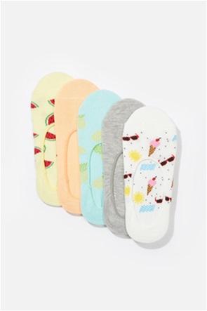 AE Summer Fruit No Show Socks 5-Pack