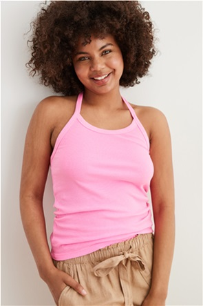 Aerie Ribbed Halter Top