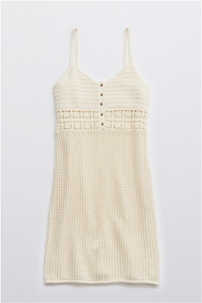 Aerie Crochet Cover Up Dress