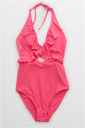 Aerie Ruffle One Piece Swimsuit