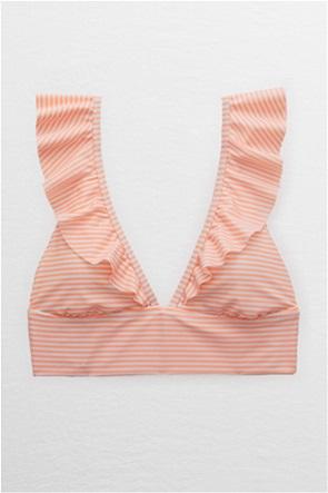 Aerie Ruffle Longline Bikini Top