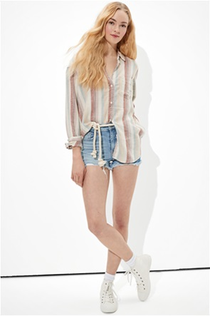 AE Oversized Button-Up Shirt