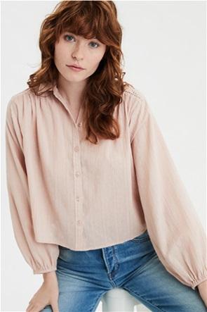 AE Lace Button Down Shirt