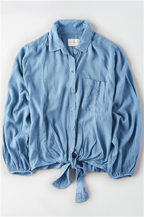 AE Tie Front Button Down Shirt