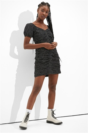 AE Printed Ruched Mini Dress