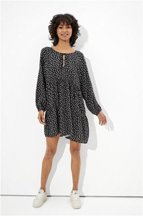 AE Long-Sleeve Tiered Babydoll Dress