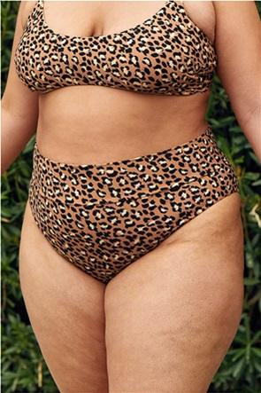 Aerie Leopard High Cut Cheeky Bikini Bottom