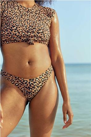 Aerie Leopard Super High Cut Cheekiest Bikini Bottom