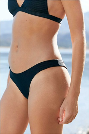 Aerie Ribbed Shine Super High Cut Cheekiest Bikini Bottom