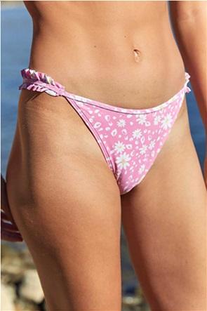 Aerie Printed Ruffle Super High Cut Cheekiest Bikini Bottom