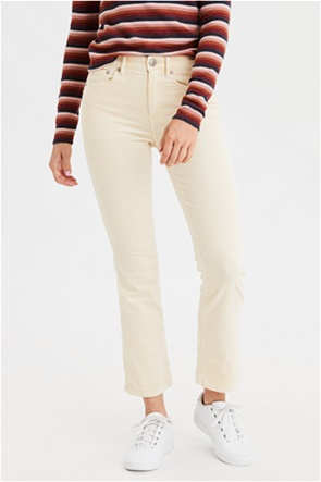 High-Waisted Corduroy Crop Flare Pant