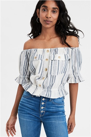 AE Patch Pocket Off-The-Shoulder Top