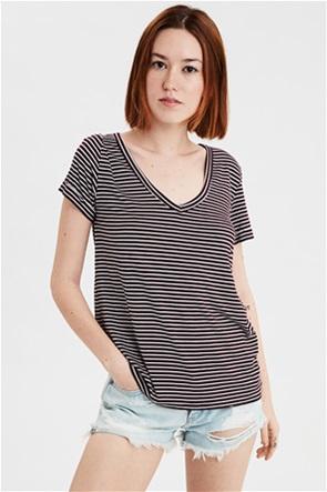AE V-Neck Striped Favorite T-Shirt