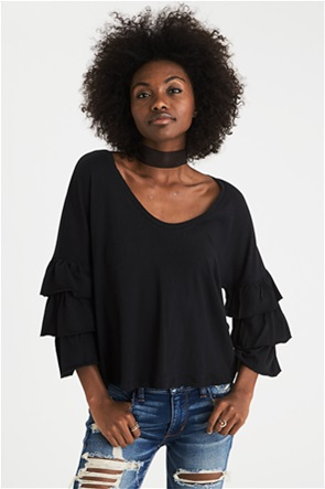 AEO Soft & Sexy Relaxed Tiered-Sleeve Top