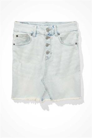 Curvy High-Waisted Denim Mini Skirt